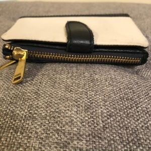 Fossil Bags - Fossil Black and White Leather Bifold Wallet